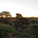 The big hole in Kimberley, just before sunset.