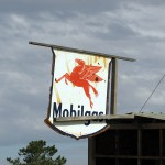 South Africa, Western Cape, Mobilgas Sign