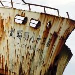 South Africa, Western Cape, Cape Agulhas, Ship wreck, Meisho Maru No. 38