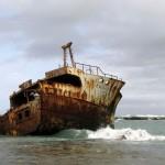 South Africa, Western Cape, Cape Agulhas, Shipwreck, Meisho Maru Nr. 38