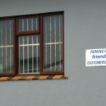 South Africa, Western Cape, Cape Agulhas, Parking for friendly customers only, funny sign