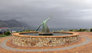 Whale fountain Hermanus South Africa | photography by Sebastian Motsch (2012)