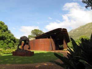 South Africa, Capetown, Kirstenbosch, Botanical Garden, Table Mountain, sculpture