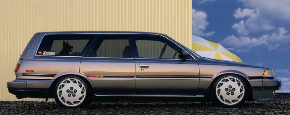 Toyota Camry Wagon V20 with Supra Wheels Photoshop by Sebastian Motsch