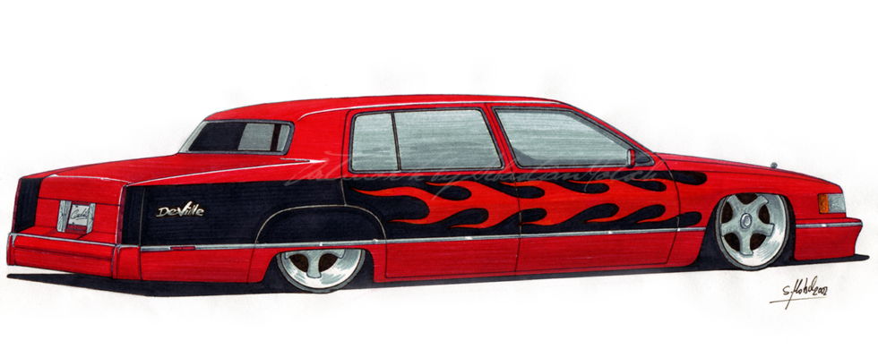 Cadillac DeVille Custom | Artwork by Sebastian Motsch (2002)