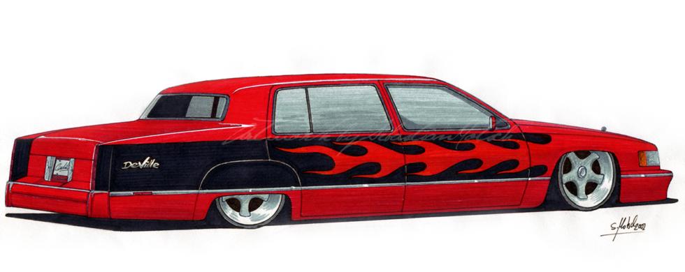 Cadillac DeVille Custom | Artwork by Sebastian Motsch (2002)