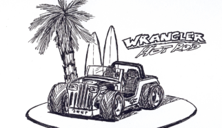 Jeep Wrangler YJ Hot Rod | Artwork by Sebastian Motsch (2013)