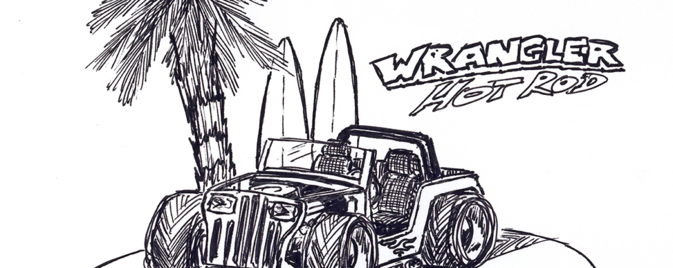Jeep Wrangler YJ Hot Rod | Artwork by Sebastian Motsch (2013)
