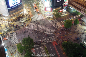 2017 Japan Tokyo Shibuya Crossing at Night | travel photography by Sebastian Motsch (2017)