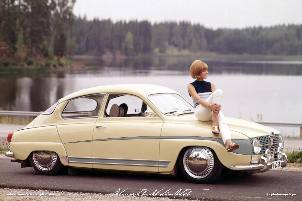 SAAB 96 Classic Custom Photoshop by Sebastian Motsch