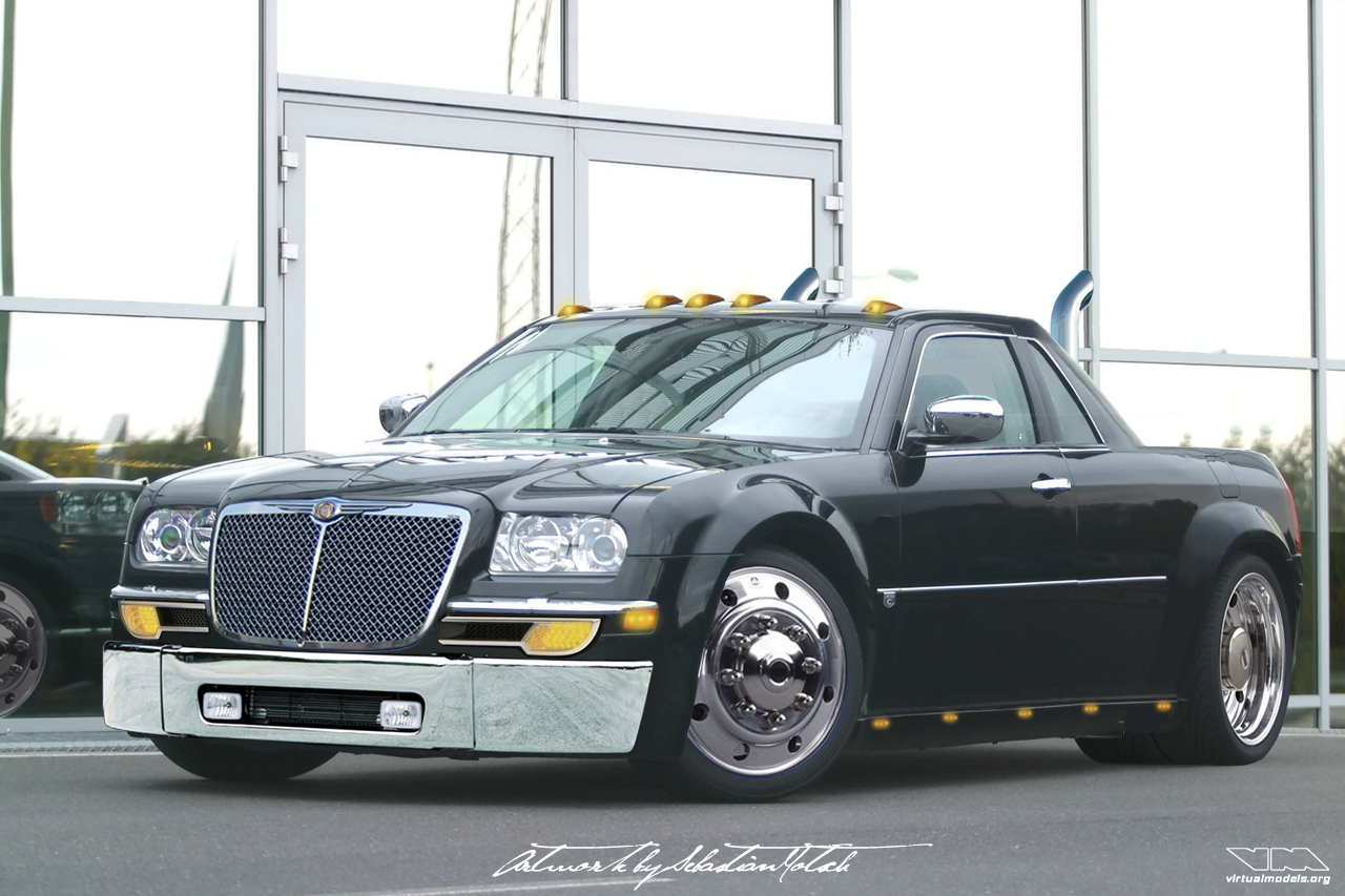 Chrysler 300C UTE pick-up conversion | photoshop chop by Sebastian Motsch (2006)