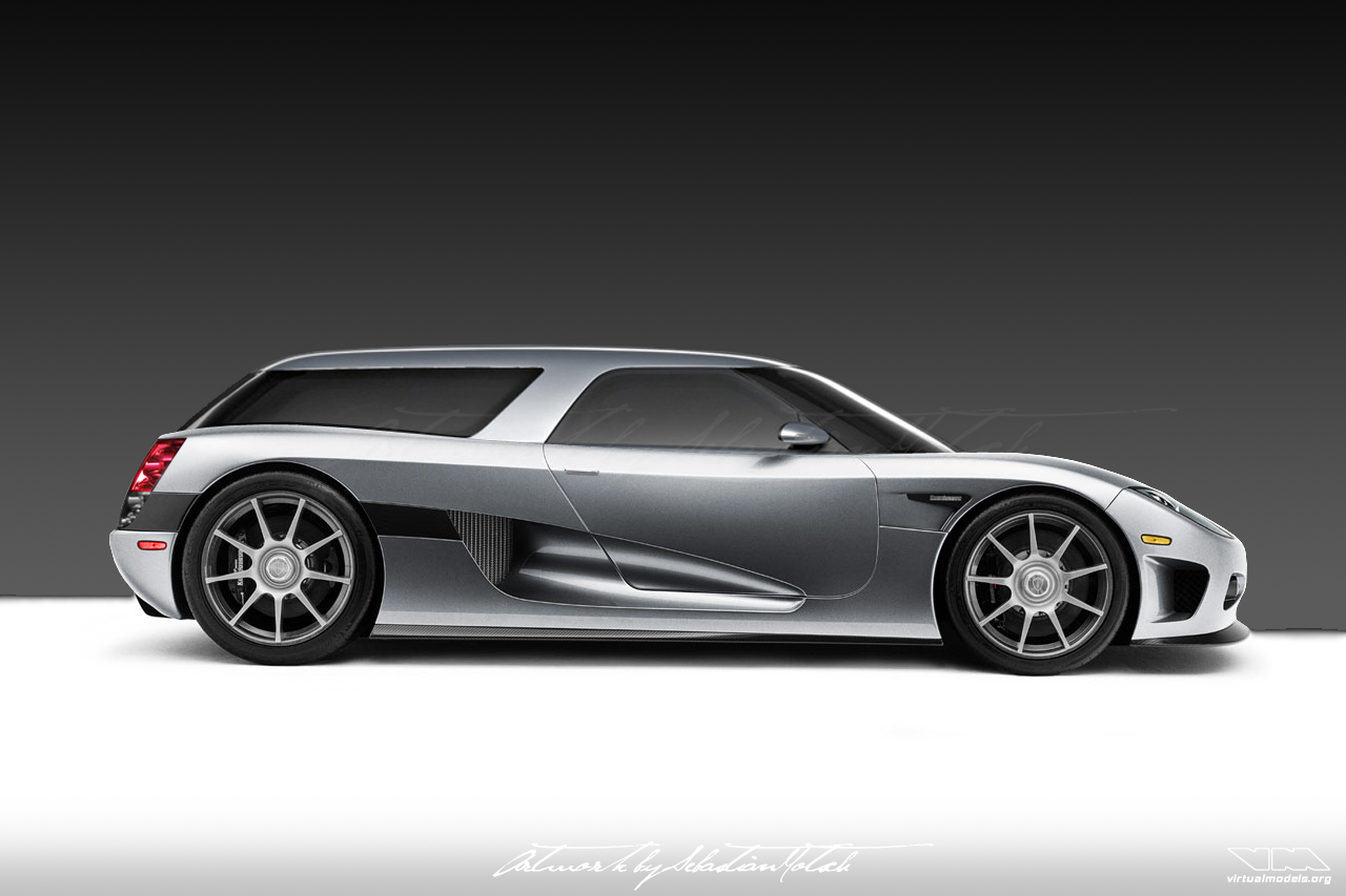 Koenigsegg CCX Shooting Break Concept | photoshop chop by Sebastian Motsch (2007)