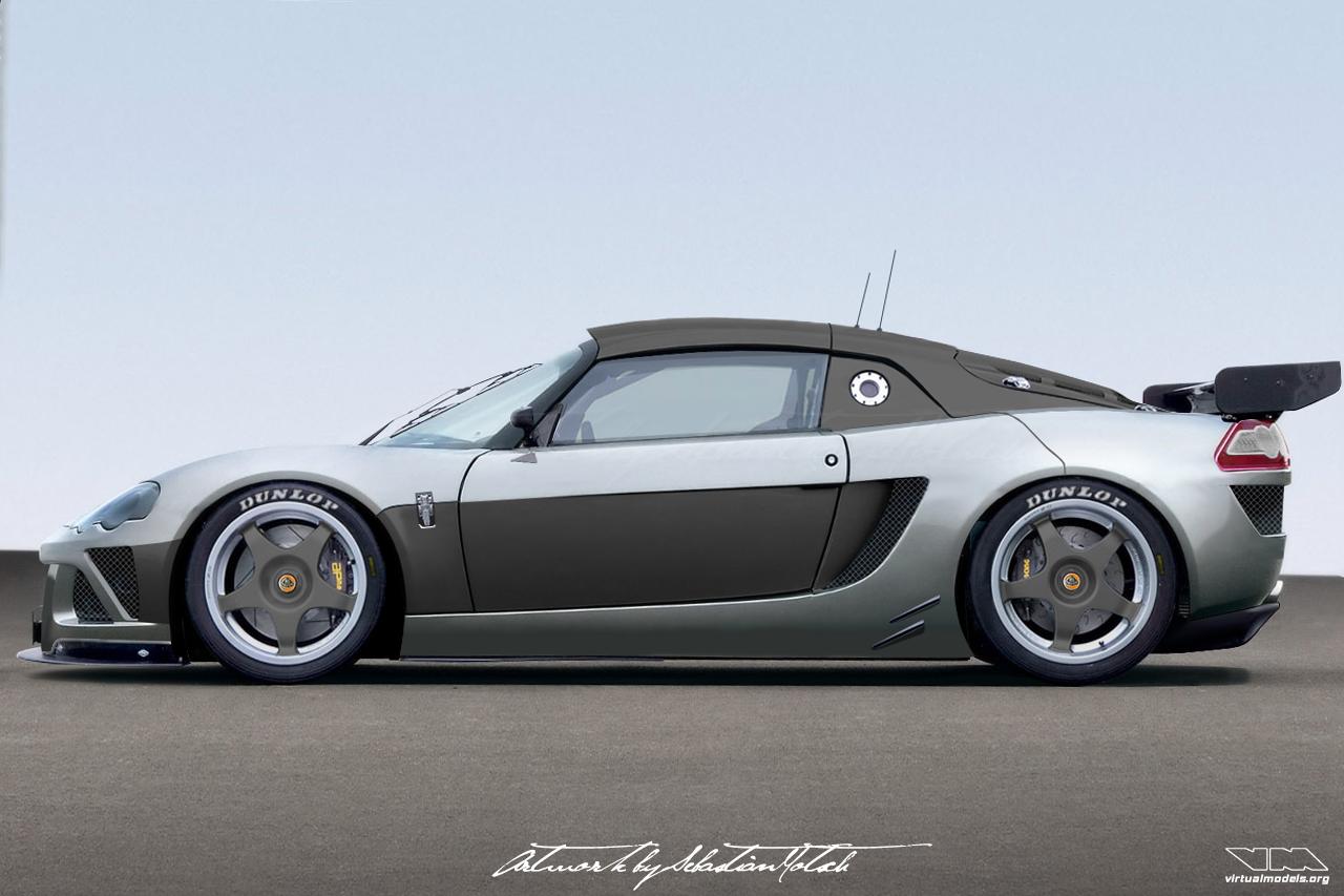 Lotus Europa Racecar Concept | photoshop chop by Sebastian Motsch (2007)