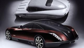 Maybach Exelero Concept Car | photoshop chop by Sebastian Motsch (2006)