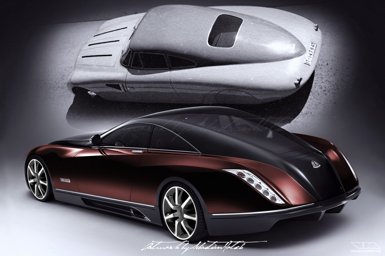 Maybach Exelero Concept Car | photoshop chop by Sebastian Motsch (2006)