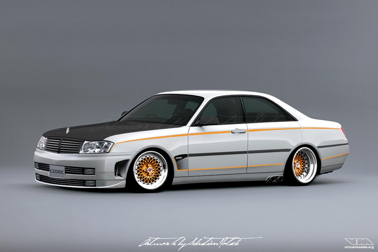 Nissan Cedric Y34 VIP   photoshop chop by Sebastian Motsch (2007)