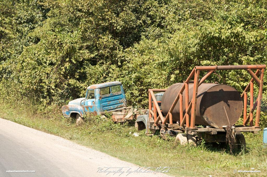 Abandoned Trucks Laos Road 13 Drive-by Snapshots by Sebastian Motsch