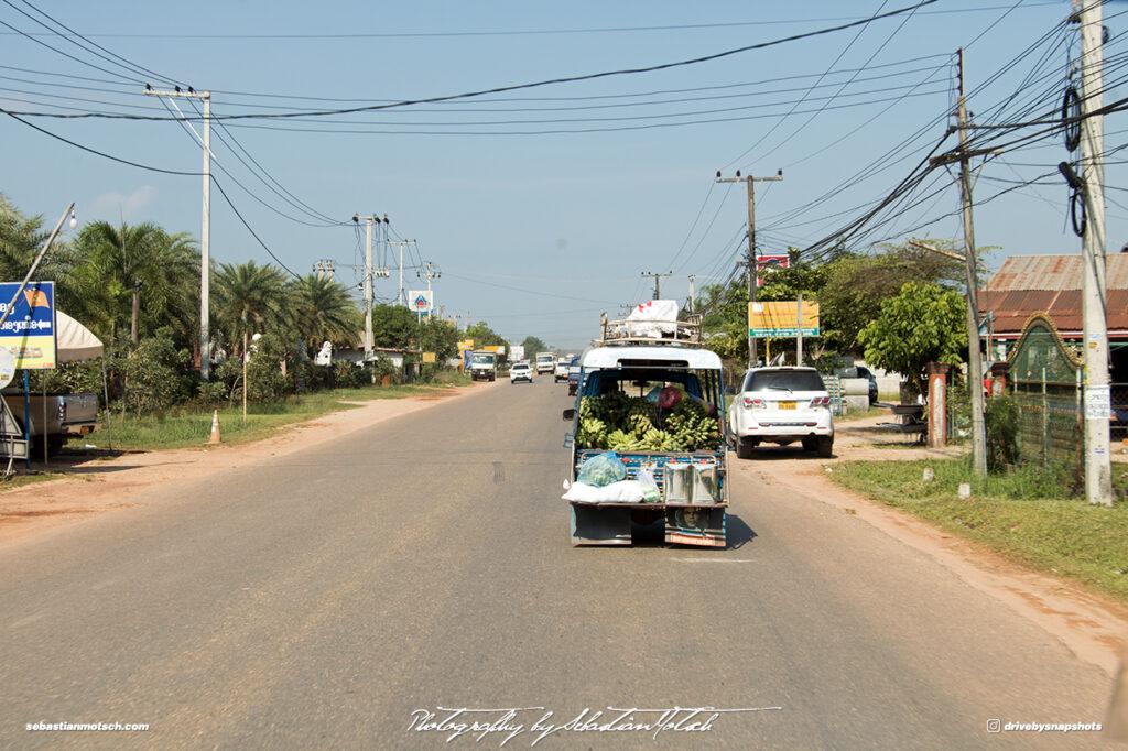 Banana Transport Street Scene Laos Drive-by Snapshots by Sebastian Motsch