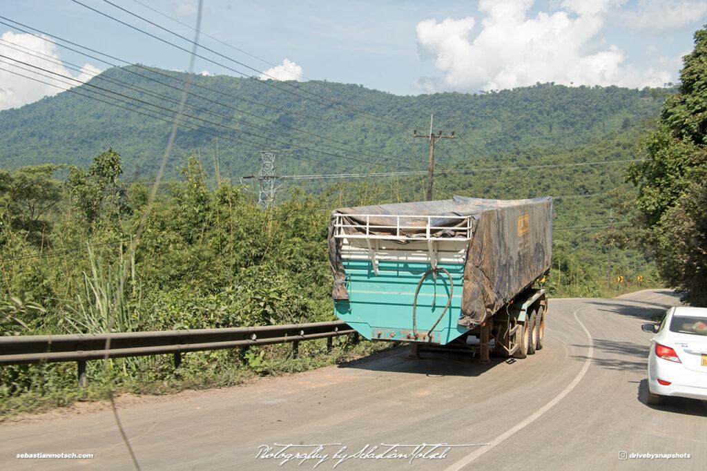 Detached Semi Trailer on Steep Mountain Road 13 Laos Drive-by Snapshots by Sebastian Motsch