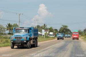 Dongfeng Construction Trucks in Laos Drive-by Snapshots by Sebastian Motsch