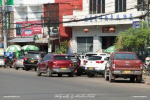 Early Morning Street Scene Laos Vientiane Drive-by Snapshots by Sebastian Motsch