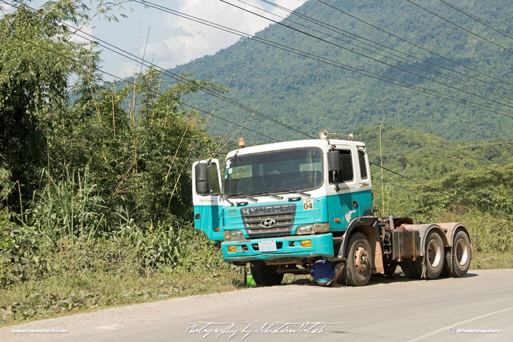 Hyundai Semi Truck Laos Road 13 Drive-by Snapshots by Sebastian Motsch