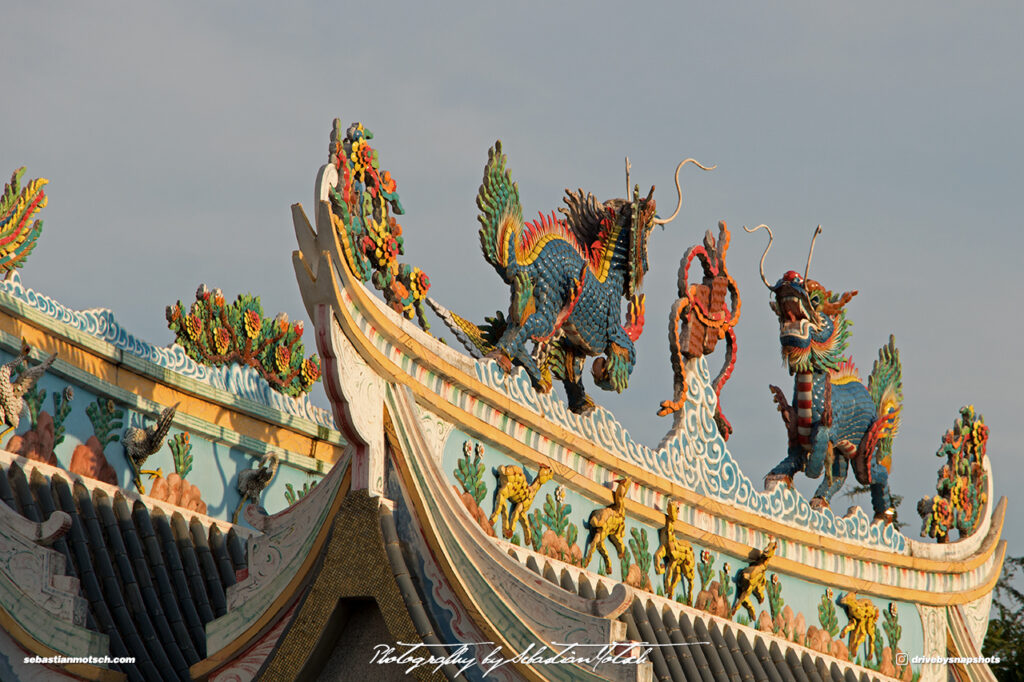 Laos Vientiane Chinese Temple Roof Detail Dragons Travel Photography by Sebastian Motsch