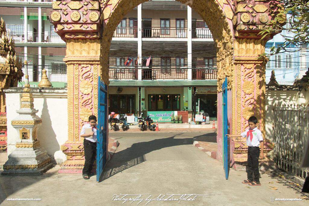 Laos Vientiane Wat Mixay Temple West Gate Travel Photography by Sebastian Motsch