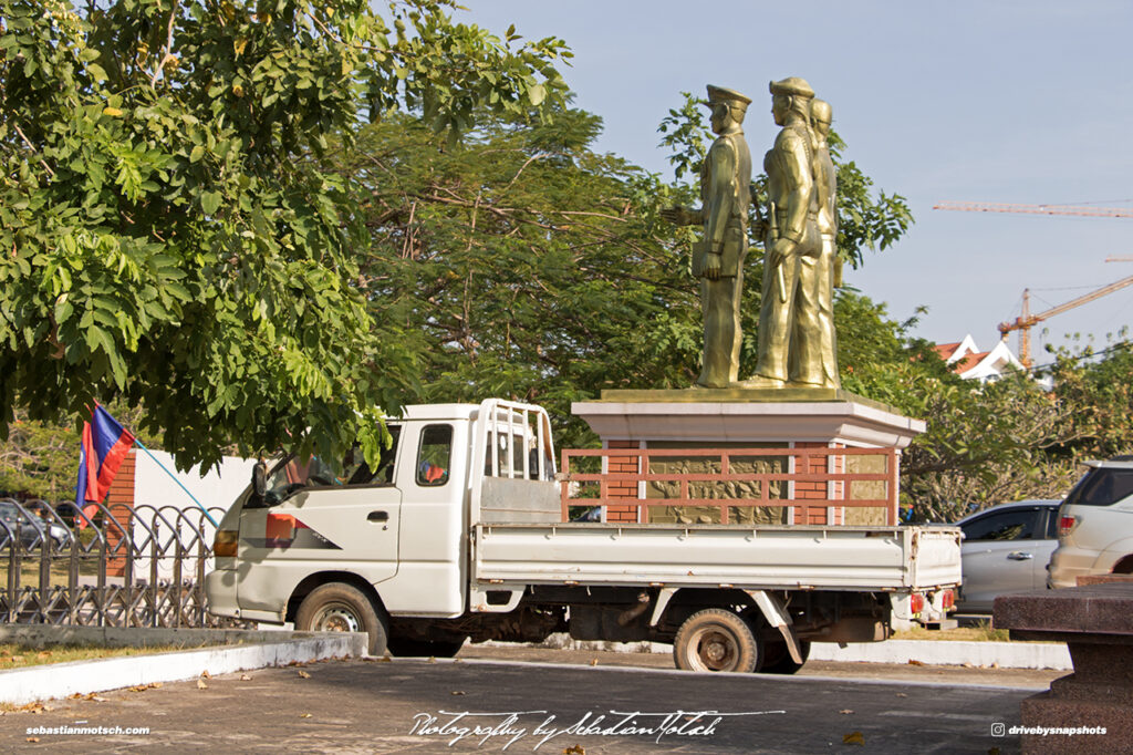 Laos Vientiane People Security Museum Statue Travel Photography by Sebastian Motsch