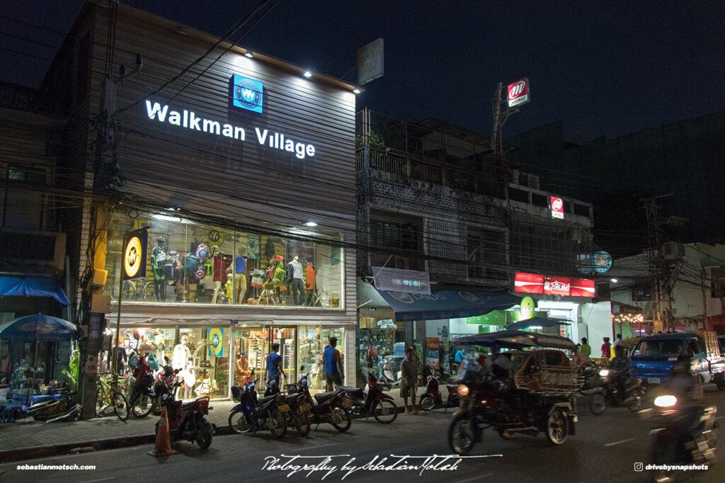 Laos Vientiane Walkman Village at Night Travel Photography by Sebastian Motsch