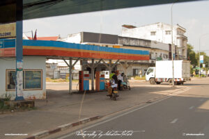 Petrol Station in Laos Vientiane Drive-by Snapshots by Sebastian Motsch