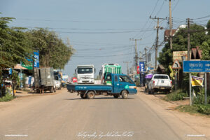 Street Scene near Houmbeng Laos Drive-by Snapshots by Sebastian Motsch