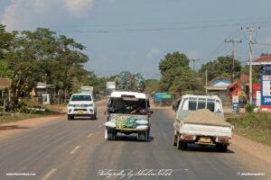 Street Scene with Trucks Laos Drive-by Snapshots by Sebastian Motsch