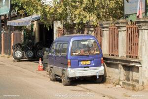 Suzuki Super Carry Custom Shop Truck Laos Vientiane Drive-by Snapshots by Sebastian Motsch