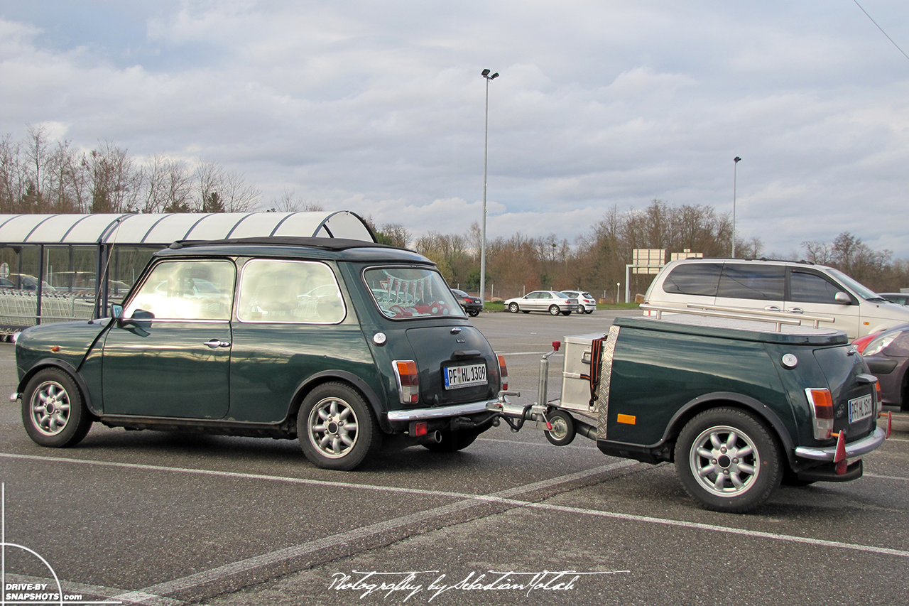 Mini Mk1 with mini-me trailer | Drive-by Snapshots by Sebastian Motsch (2010)