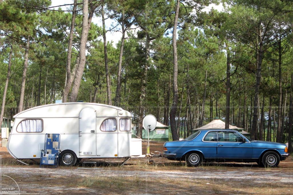 Mercedes-Benz W123 Coupe with Constructam Caravan | Drive-by Snapshots by Sebastian Motsch (2009)