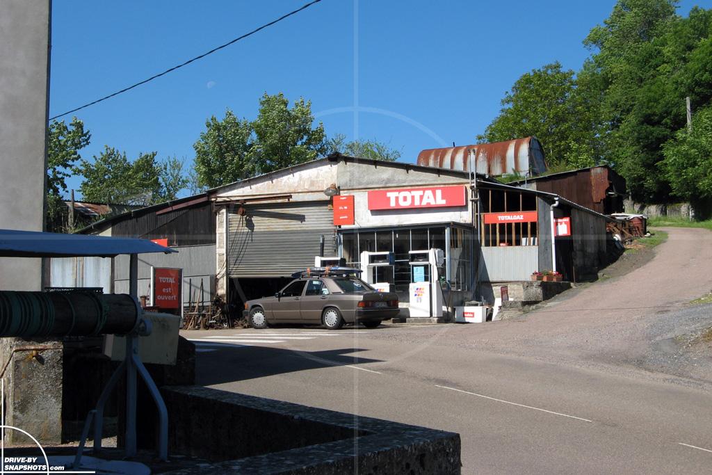 Station Service Le Rousset France   Drive-by Snapshots by Sebastian Motsch (2010)