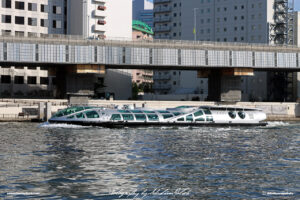 Japan Tokyo Emeraldas Ferry Ship on Sumida River by Sebastian Motsch