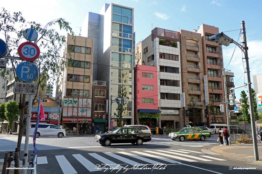 Japan Tokyo Intersection in Asakusabashi by Sebastian Motsch