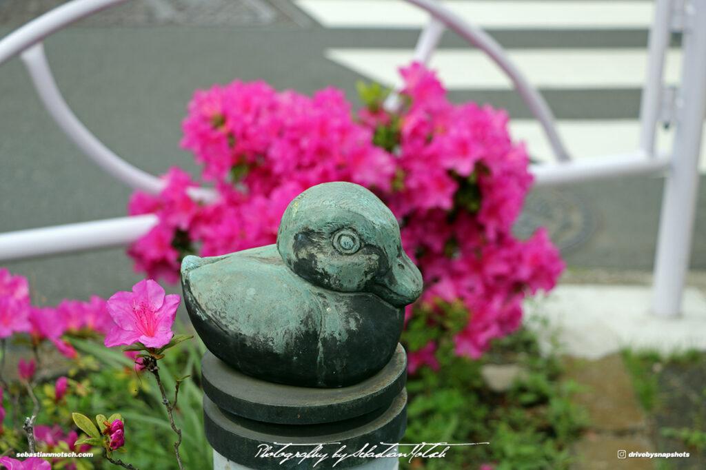 Japan Tokyo Meguro Yanagi Dori Duck Sculpture by Sebastian Motsch