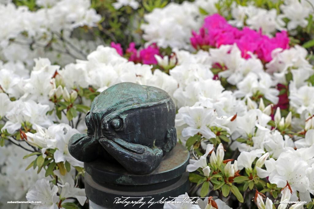 Japan Tokyo Meguro Yanagi Dori Shrimp Sculpture by Sebastian Motsch