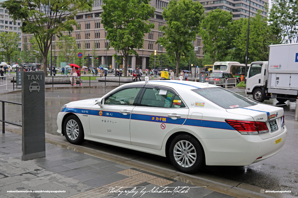 Japan Tokyo Station Toyota Crown Hybrid Taxi by Sebastian Motsch