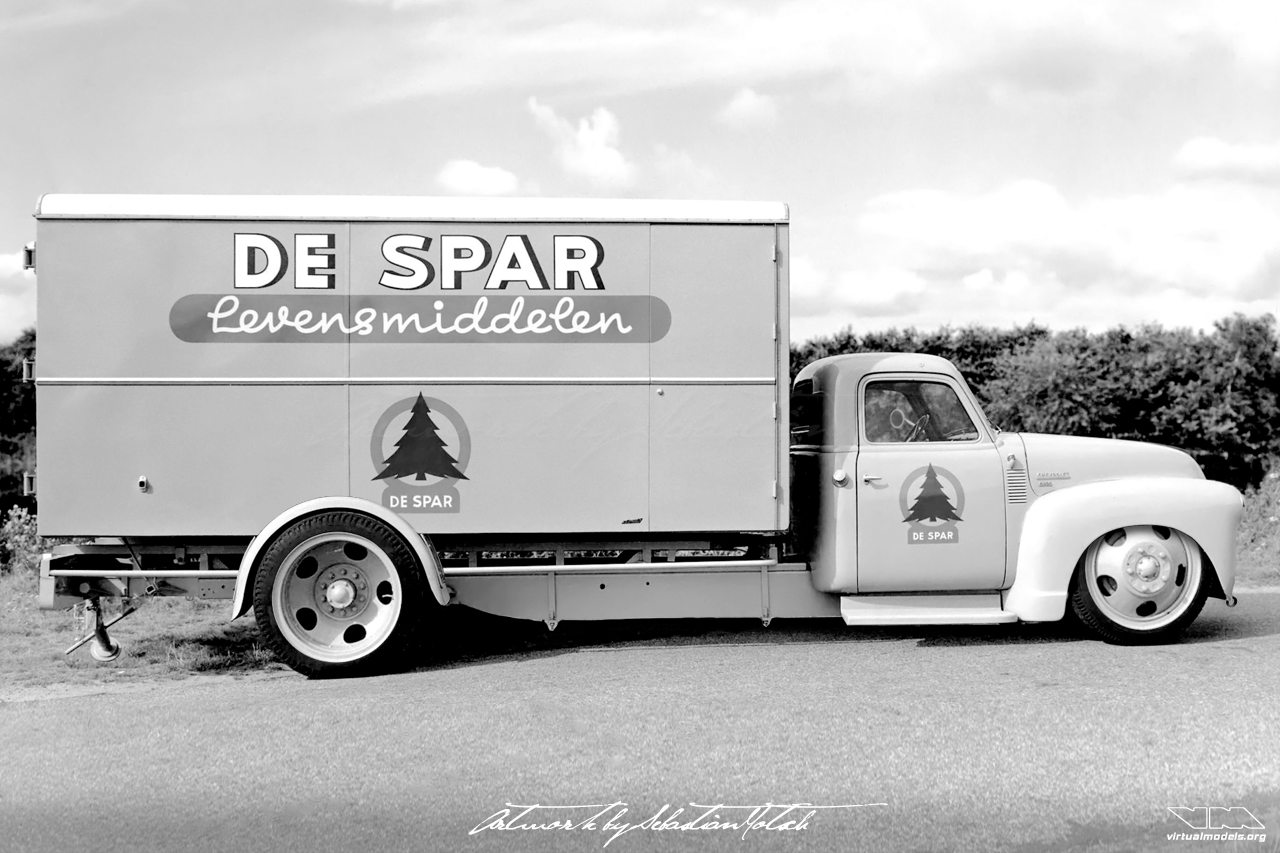 Chevrolet 4400 Chassis Cab Hot Rod Box Van Spar Levensmiddelen | photoshop chop by Sebastian Motsch (2019)