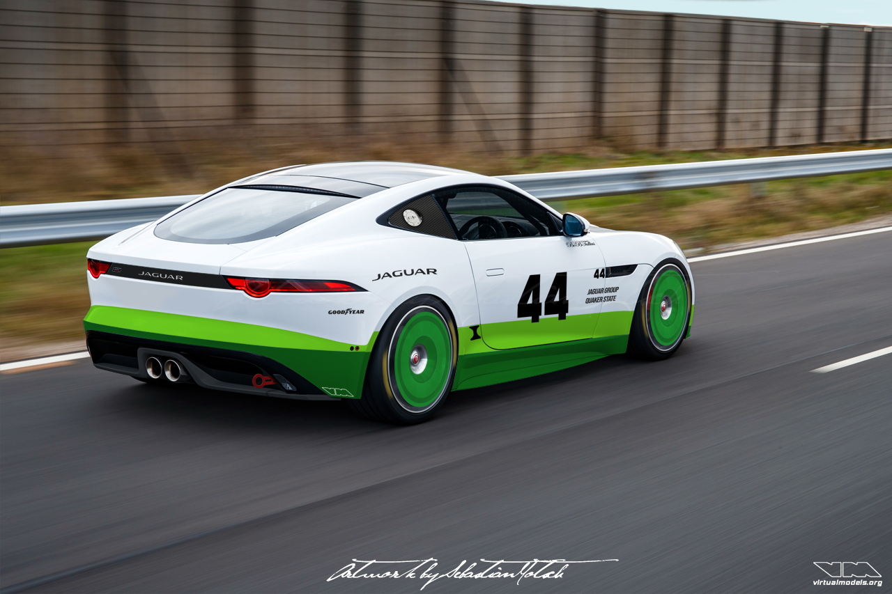 Jaguar F-Type Group 44 GT4-spec | Photoshop Chop by Sebastian Motsch (2019)