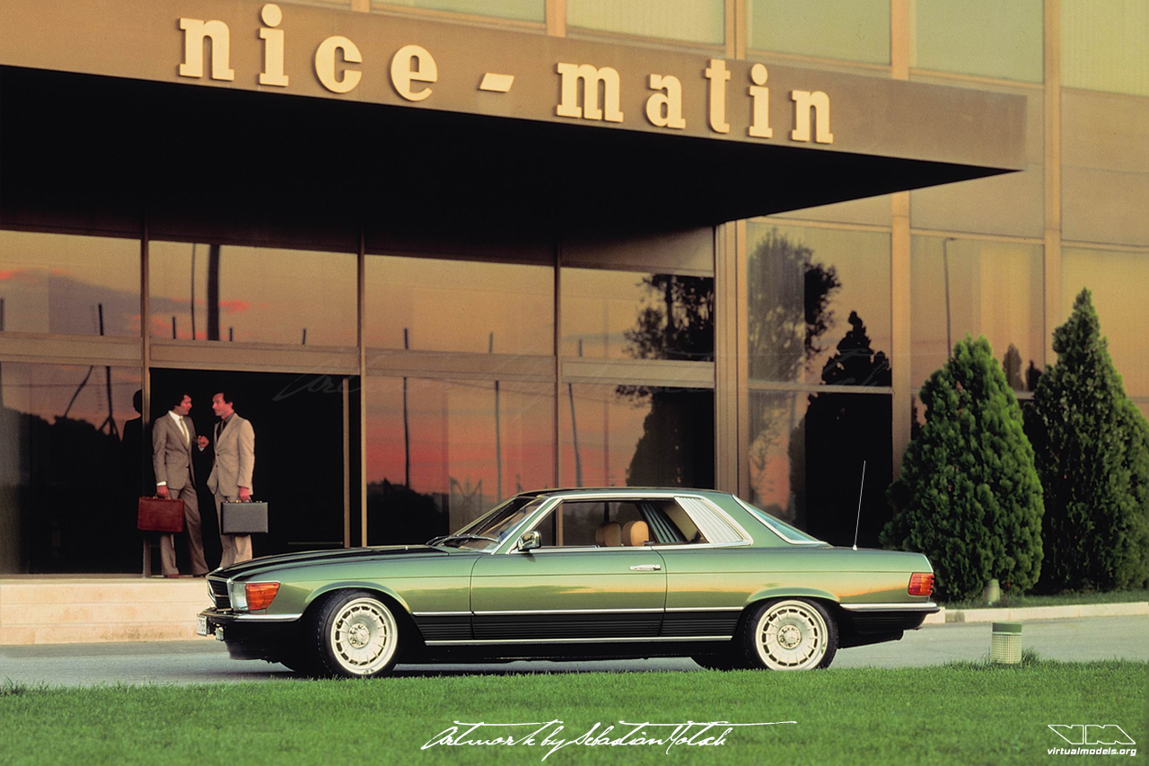 Mercedes-Benz C107 450 SLC Top Chop Nice Matin | photoshop chop by Sebastian Motsch (2019)