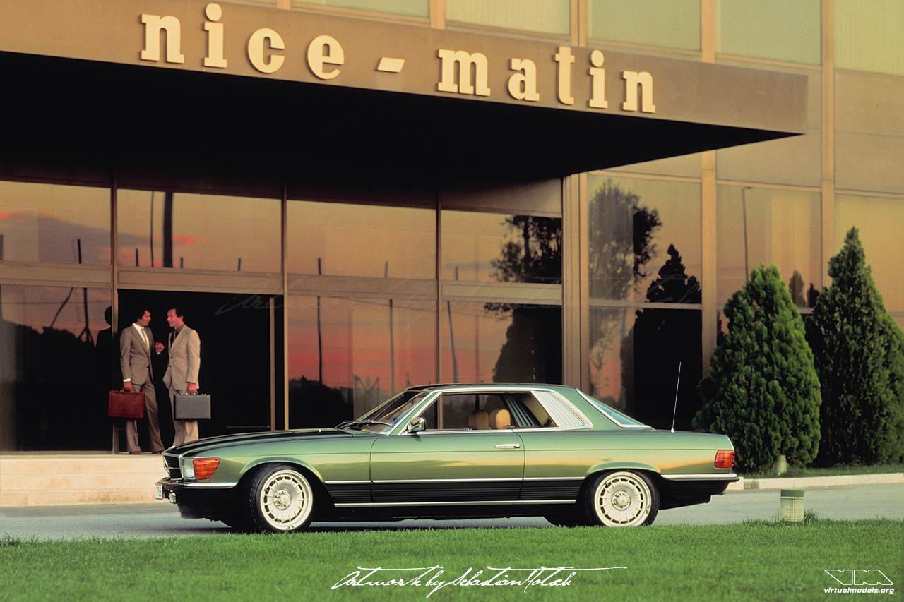 Mercedes-Benz C107 450 SLC Top Chop Nice Matin | photoshop chop by Sebastian Motsch (2019)