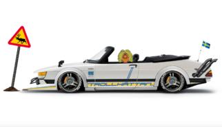SAAB 900 Turbo Cabriolet Bosozuku   Photoshop Chop by Sebastian Motsch (2019)