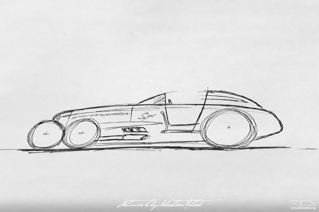 Sparks-Thorne Little Six 6-Wheeler Racecar Tyrell P34   photoshop chop by Sebastian Motsch (2019)
