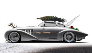 Hispano Suiza H6C Xenia Subonnet by Saoutchik Christmas Sled Photoshop by Sebastian Motsch (2019)