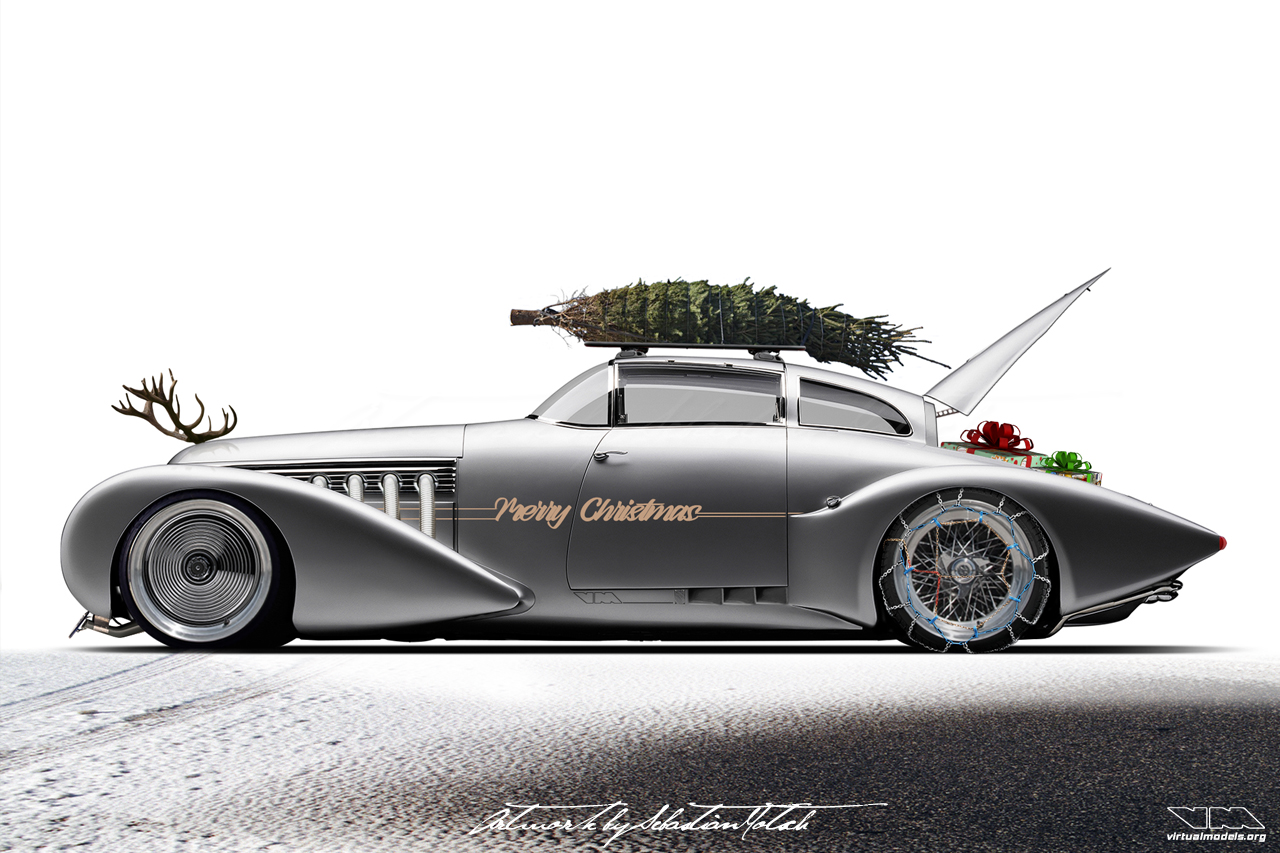 Hispano Suiza H6C Xenia Subonnet by Saoutchik Christmas Sled Photoshop by Sebastian Motsch (2019)